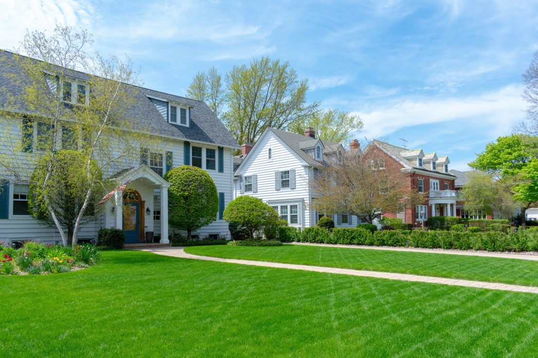 traditional suburban homes